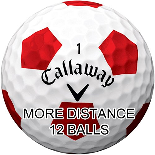 New Callaway Chrome Soft Golf Balls with Truvis Technology - Made in the USA ( 12 Pack) Choose your Color (Color - Truvis Red on White)
