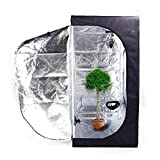 Olymstore 32 x 32 x 64-inch Reflective Mylar Hydroponics Plant Growing Tent, GreenHouse, Home Use Dismountable Water-Resistant Black for Indoor Seedling/Plant Growing & Germination