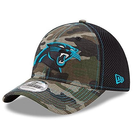 ee4662f4940 Carolina Panthers New Era NFL 39THIRTY Woodland Camo  quot Shock Stitch  Neo quot  Flex Fit