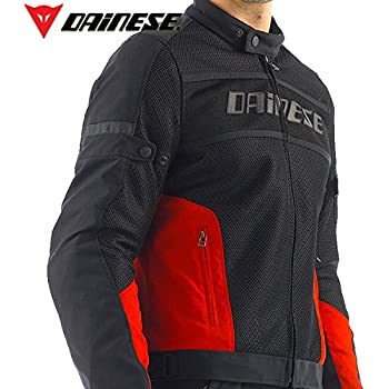 Dainese Air-Frame Tex Mesh Motorcycle Jacket Black/Red Size 52 Euro/42