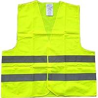 Fliyeong Chaleco Reflectante de Seguridad Chalecos Reflectantes de Seguridad Trabajos al Aire Libre Tira Plateada Ligero para Hombres y Mujeres 1 Pieza Verde
