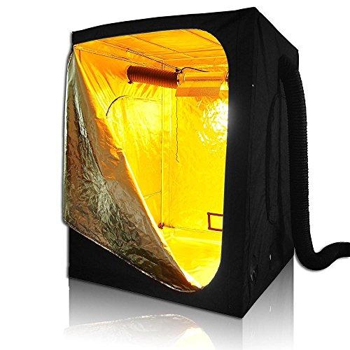 "5176FjR55RL - LAGarden 60x60x78"" 100% Reflective Diamond Mylar Hydroponics Indoor Grow Tent Non Toxic 600D Planting Room"