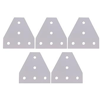 Glvanc,8 piezas Impresora 3D Aluminio en forma de T 5 orificios ...