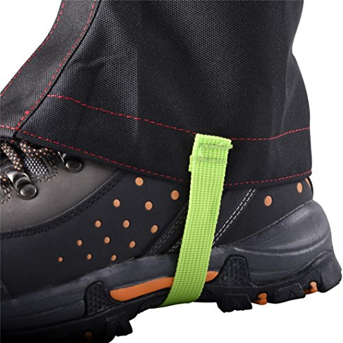 Snow Gaiters, Inkach Hiking Gaiters Leg Cover Boot Legging Wrap Waterproof Shoes Gaiters Black