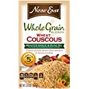 Near East Whole Grain Blend Wheat Couscous, Roasted Garlic & Olive Oil 5.8 oz (Pack of 12 Boxes)