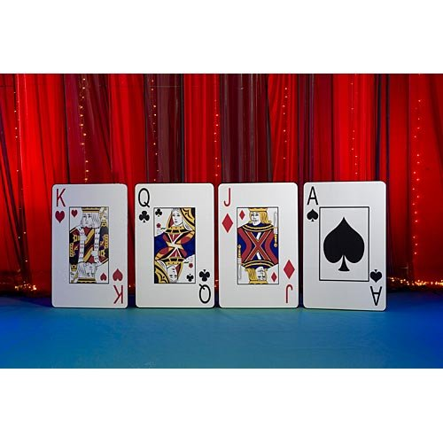 Vegas Casino Giant Playing Card Cutout Standup Photo Booth Prop Background Backdrop Party Decoration Decor Scene Setter Cardboard Cutout ()