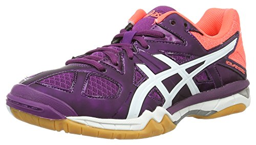 Asics Women's W Coral Shoes 901 White Volleyball Tactic Phlox Multicolour Gel Flash 4Etqw4r