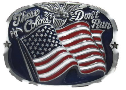These Colors Don't Run Belt Buckle (Rebel Flag Belt Buckle)