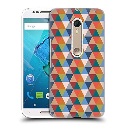 Official KookiePixel Retro Triangle Patterns 2 Hard Back Case Compatible for Motorola Moto X -