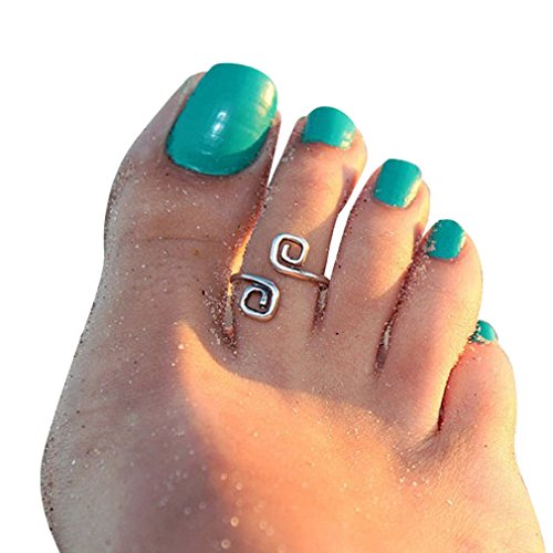 DaySeventh Women Fashion Simple Retro Toe Ring Adjustable Foot Beach Jewelry