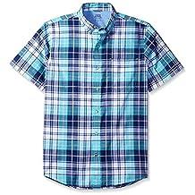 Izod mens Saltwater Dockside Chambray Solid Short Sleeves Shirt