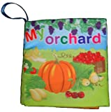 MY ORCHARD - Baby's First Soft CLOTH BOOK. GREAT GIFT FOR CHRISTMAS / HOLIDAYS. FAST SHIPPING.