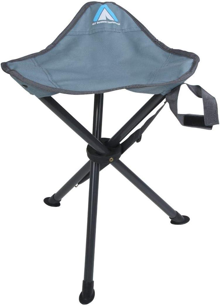 10T Outdoor Equipment Unisex Adultos Tripod Arona Dreibeinhocker Camping Trekking Hocker Klapphocker f/ácilmente klappbar Silla Azul 1 Persona