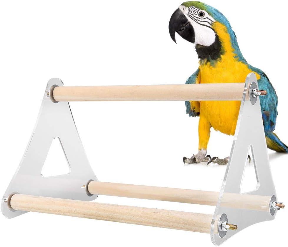 Loro Perca Soporte Loro Pájaro Perca Soporte Mordedura de mordedura Garra Triángulo Escalera Loro de Madera Juego para pájaros Pájaro Jugar Gimnasio en Tierra Soporte para Mascotas: Amazon.es: Productos para mascotas