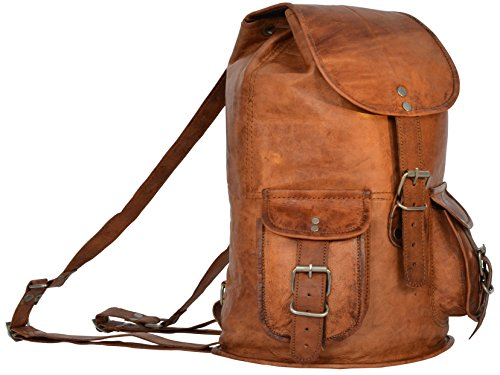 "Gusti Leder nature Genuine Leather Backpack ""Penguin"" Rucksack Vintage Sling Bag City Uni College Shoulder Leisure Bag Unisex Brown M30 by Oskar Stag"