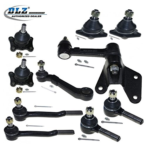 DLZ 10 Pcs Front Suspension Kit-2 Lower 2 Upper Ball Joint 2 Outer 2 Inner Tie Rod End 1 Idler Arm 1 Pitman Arm Compatible with 1989-1991 Toyota 4Runner Toyota - Arm Idler Toyota 4runner