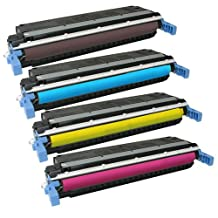 Amsahr Remanufactured Replacement Toner Cartridge for HP C9720A, 9721A (Black/Magenta/Yellow/Cyan)