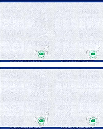 Premium Washington State Prescription Security Laser RX Sheets 8.5 x 11, TWO Perforations (1,000 Sheets)