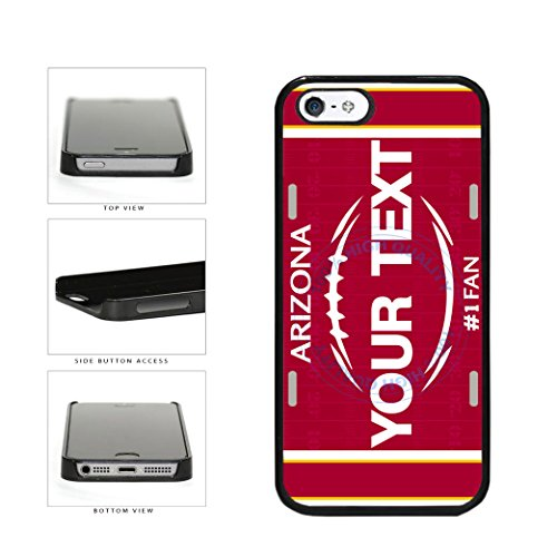 BleuReign(TM) Personalized Custom Name Football Arizona License Plate Plastic Phone Case Back Cover For Apple iPhone 5 5s and iPhone SE