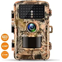 Campark Trail Camera 1080P Hunting Cam 12MP 2.4 Color LCD Wildlife Game Scouting Digital Surveillance Camera with 75ft/23m Infrared Night Vision 42pcs IR LEDs IP56 Waterproof