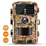 Campark Trail Camera 1080P Hunting Cam 12MP 2.4' Color LCD Wildlife Game Scouting Digital Surveillance Camera with 75ft/23m Infrared Night Vision 42pcs IR LEDs IP56 Waterproof