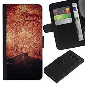 iKiki Tech / Cartera Funda Carcasa - Winter Vignette Nature Freedom Road - Samsung Galaxy S3 I9300