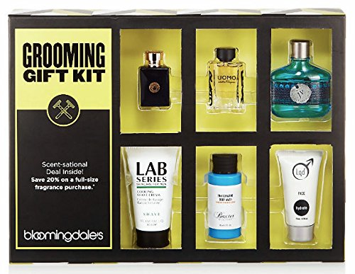 Men's Grooming Kit with 3 Designer Colognes Total 6 Pieces Plus Deluxe Box (Grooming Total Kit)