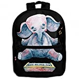 Africa Elephants Playing On Piano Childrens School Backpacks Casual Daypack Travel Outdoor For Boys And Girls