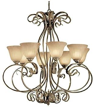 Amazon.com: Classic iluminación 68308 EB SSG Manilla, araña ...