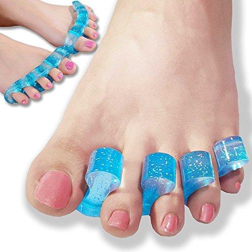 Dr jk- Original : Gel Toe Separadores & Toe Spreader (4 Pcs), lucha Bunion, martillo de los dedos, Garra de los dedos, torcido dedos y más. Toe Spacers para yogis, bailarines y atletas por Dr JK