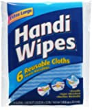 Handi Wipes Reusable Cloths, 6-Count Packages (Pack of 24), (Colors May Vary)