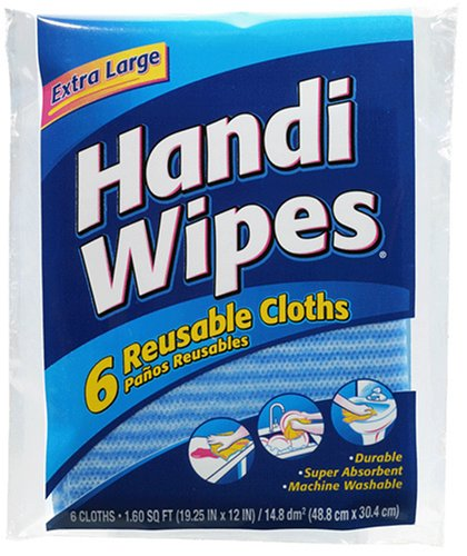 Handi Wipes Reusable Cloths, 6-Count Packages (Pack of 24), (Colors May Vary) by Clorox (Image #1)