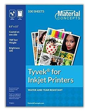 cf13562faaef Tyvek - Hojas para impresoras de inyección de tinta: Amazon.es ...