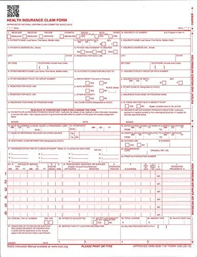 New CMS 1500 Claim Forms product image