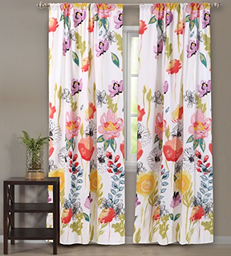 Best Greenland Home Home Fashion Curtains Wides - Greenland Home Watercolor Dream Window Panel