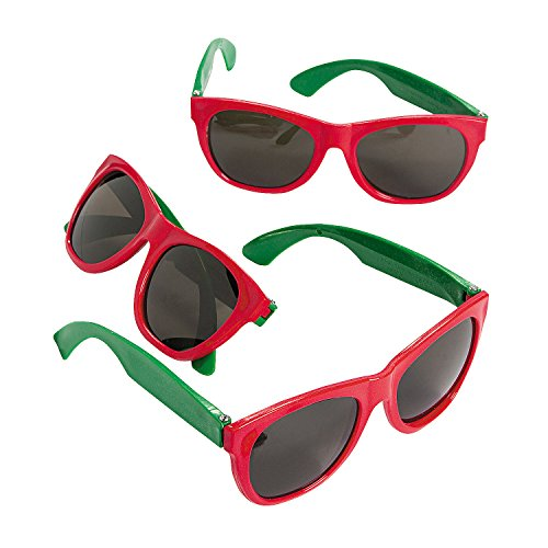 Christmas Nomad Sunglasses, 12-Count Party - Sunglasses Christmas