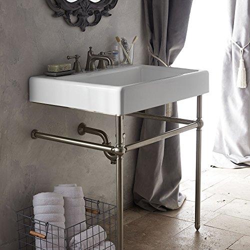 Metal Console Lavatory Sink - DXV D21411030 D21411030.144 Console Sink, Platinum Nickel