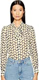 LOVE Moschino Women's Daisy Knot Top Black Shirt