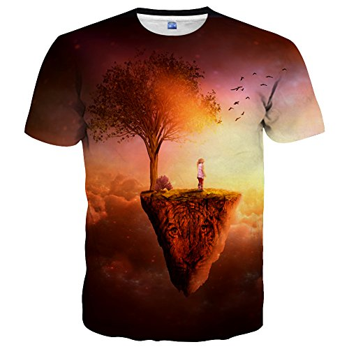 (Hgvoetty Men Women Cool Shirts Funny 3D Design Graphic Tees M)