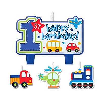 """All Aboard Boy"" Candle Set, Birthday: Toys & Games"