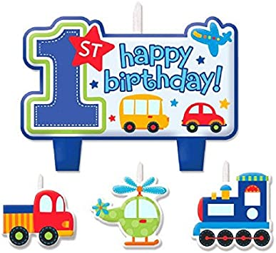 Amazon.com: Todos a bordo. Fiesta de cumpleaños vela para ...