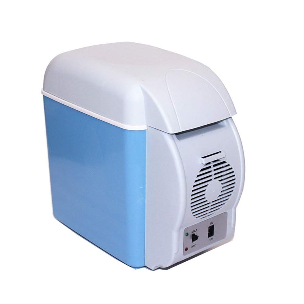 Portable Electric Cooler Fridge 7.5L Electric Car Refrigerator, Portable Mini Fridge with Cold and Hot Functionality, ECO Power Saving Mode - AC & DC for Travel, Picnic, Camping, Home and Office Use