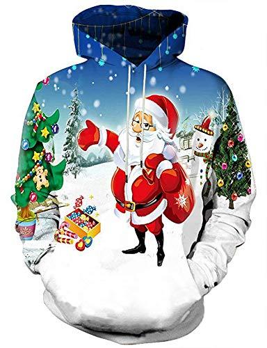 Inverno Vestiti Uomo xl Con Abbigliamento Stampato Autunno Stile Natale Di Jing Nuovo Cappuccio E 3d Aq1WfPf