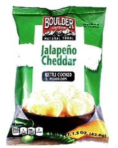 Boulder Canyon Potato Chips - Jalapeno Cheddar (Pack Of 55)