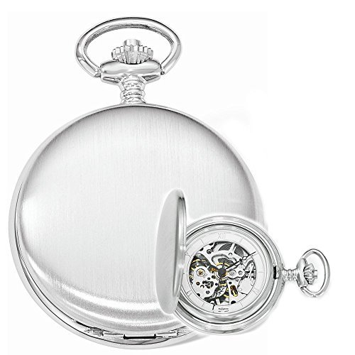 Swingtime Engravable Chrome Brass Wind Up Mechanical Mens Pocket Watch by Swingtime