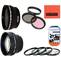 58MM Deluxe Lens Kit For Nikon DF, D90, D3000, D3100, D3200, D3300, D5000, D5100, D5200, D5300, D5500, D7000, D7100, D300, D300s, D600, D610, D700, D750, D800, D810 Digital SLR Cameras Which Has Any Of These Nikon Lenses 35mm f/1.8G, 50mm f/1.4G, 50mm f/1.8G, 55-300mm