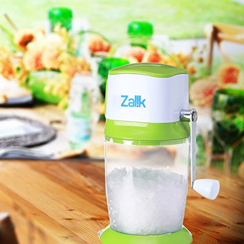 Zalik Ice Crusher Manual Hand Crank Ice Grinder For Fine Or Coarse Pieces - Strongest Heaviest Duty With Large 50 OZ Bucket - 430 Stainless Steel Blade - Essential Kitchen Tool - Bar Accessory by Zalik (Image #3)