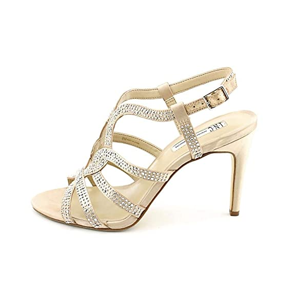 INC International Concepts Womens I35 Randiie Evening Pumps Heeled Sandals Bisque 7 M US