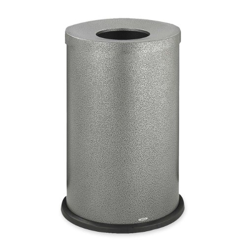 Safco Products 9677NC Black Speckle Open Top Waste Receptacles, Black Speckle