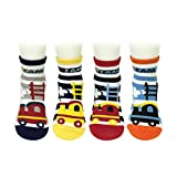 Bowbear Baby 4 Pair Choo Choo Train Non-Slip Socks